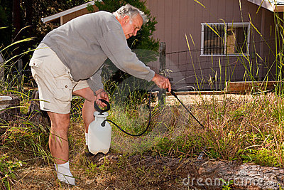 Ältere Gartenarbeit