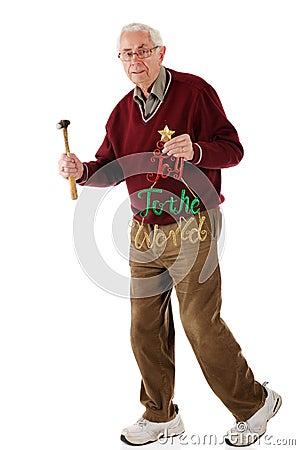 Ältere holende Freude