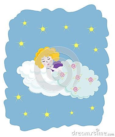 ängel little som sovar