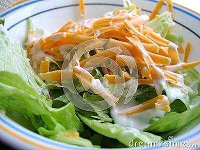 äta lunch sallad