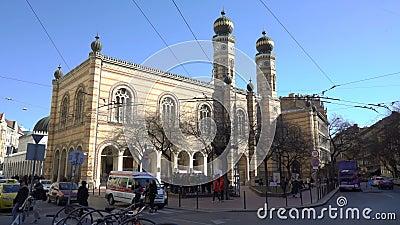 多哈尼街犹太教堂Tabakgasse犹太教堂是最大的犹太教堂在欧洲 布达佩斯,匈牙利 股票录像