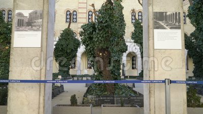 多哈尼街犹太教堂Tabakgasse犹太教堂是最大的犹太教堂在欧洲 布达佩斯,匈牙利 影视素材