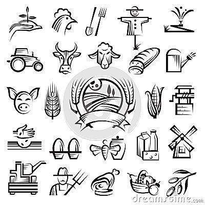 åkerbruka lantbruksymboler