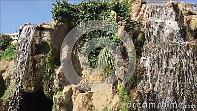 赫诺韦斯公园的小瀑布,卡迪士
