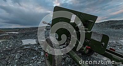 苏联的火炮世界大战2的大炮时间 Hyperlapse 影视素材