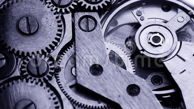 老时钟齿轮机构