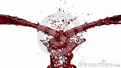 Éclaboussure de sang contre le blanc, longueur courante clips vidéos