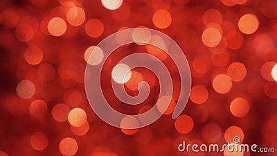 Éclairage de Noël rouge au défocus Arrière-plan de Bokeh Infocalisé banque de vidéos