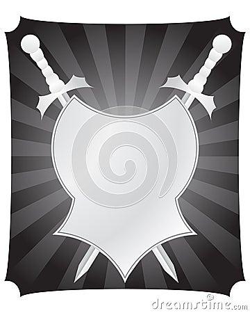 Écran protecteur et épées