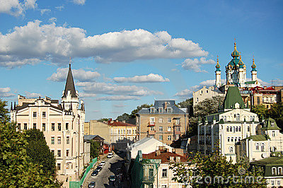 Église du `s de rue Andrew, Kiev, Ukraine