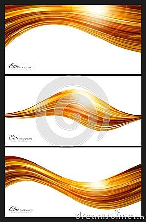 Éléments abstraits d or pour le fond