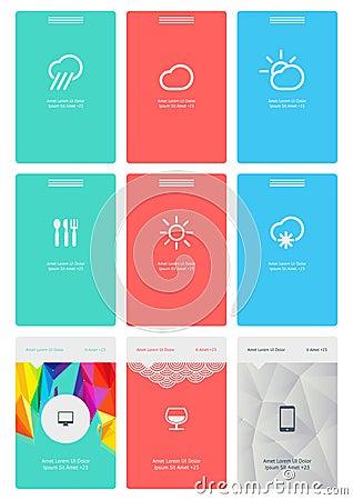 Éléments d Infographics avec des boutons et des menus
