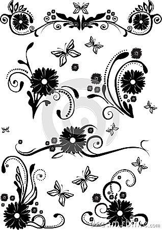 éléments de conception floraux