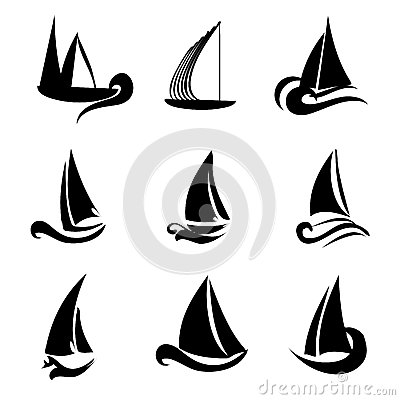 Photo Libre De Droits %C3%A9l%C3%A9ments De Logo De Bateau Image36451195