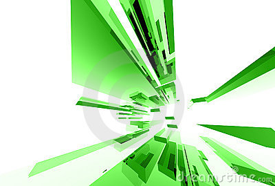 Éléments en verre abstraits 035