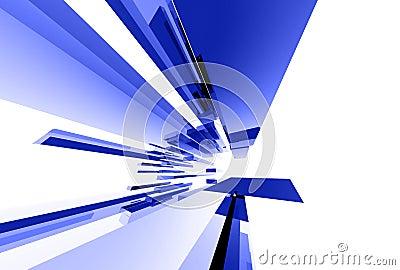 Éléments en verre abstraits 043