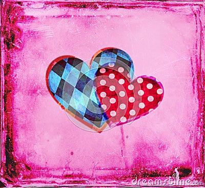 Él y ella corazones