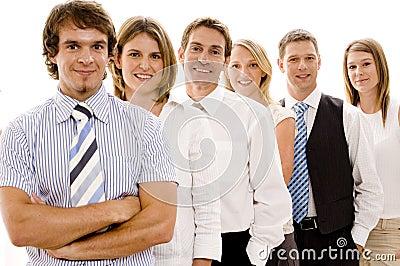 Équipe confiante d affaires