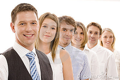 Équipe d affaires de groupe