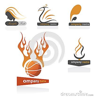 équipe de logos de basket-ball