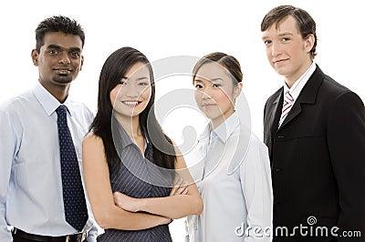 Équipe diverse 1 d affaires