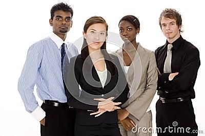 Équipe diverse d affaires