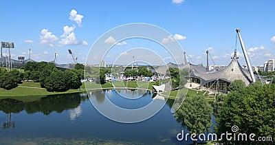 Équipements et parc olympiques, Munich Tir de cuisson banque de vidéos