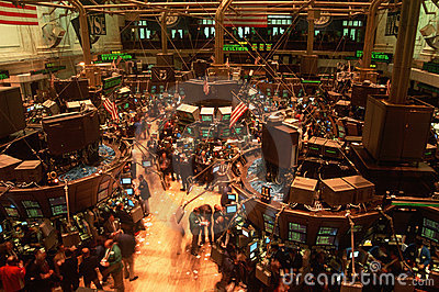 Étage de Bourse de New York Photographie éditorial