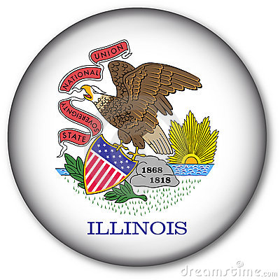 état de l Illinois d indicateur de bouton