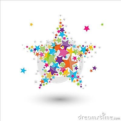 Étoile colorée
