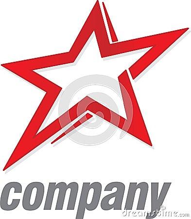 Étoile de rouge de logo