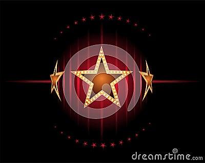Étoiles en rouge