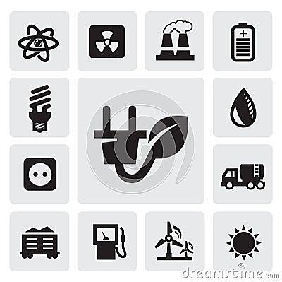 Ícones da energia de Eco