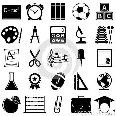 Ícones da escola e da educação