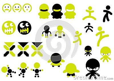 Ícones do caráter