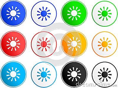 Ícones do sinal de Sun