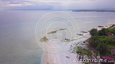 Εναέριο μήκος σε πόδηα στο νησί Gili Meno, Ινδονησία φιλμ μικρού μήκους