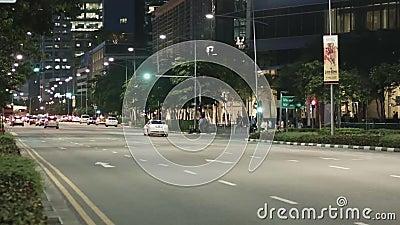 Δρόμος κυκλοφορίας Timelaps της Σιγκαπούρης φιλμ μικρού μήκους