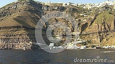 Île de Santorini en mer Égée La Grèce clips vidéos
