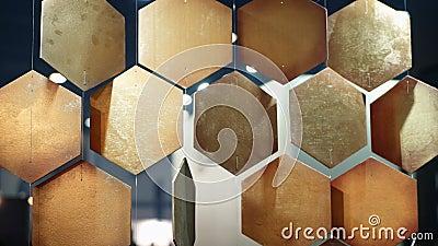 Τα χρυσά κύτταρα συμπαθούν το υπόβαθρο hoeycomb φιλμ μικρού μήκους