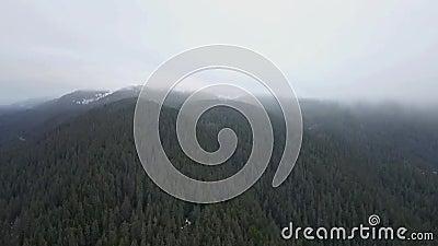 Πτήση σύννεφων τον από την Αλάσκα χειμώνα απόθεμα βίντεο
