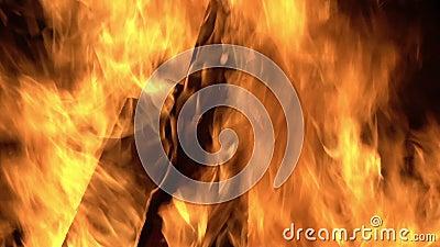 горящий пожар сток-видео