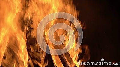 горящий швырок сток-видео