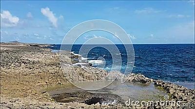 Дикое джакузи Curacao - Suplado сток-видео
