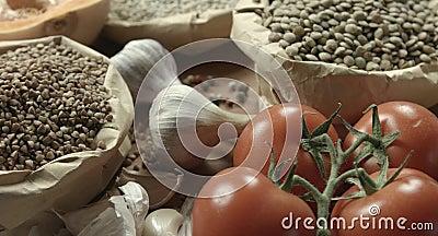 Ð ¡ ereals, ντομάτες, κολοκύθα, φακή φιλμ μικρού μήκους