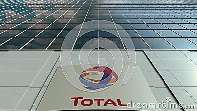 Доска Signage с полным s A логос Современный промежуток времени фасада офисного здания Редакционный перевод 3D акции видеоматериалы