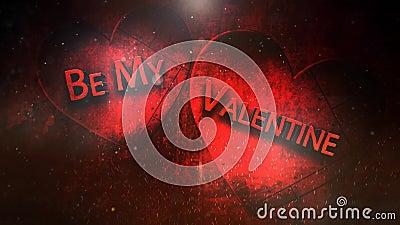 Ögla för valentin 4K för metallisk Grunge flammande royaltyfri illustrationer