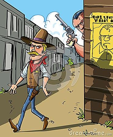 Önskad affisch för en cowboy