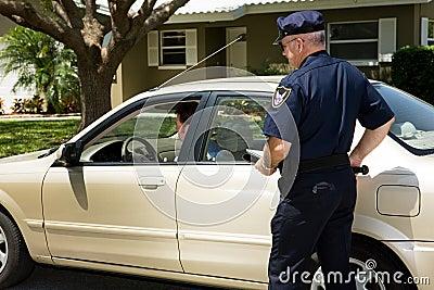 över den dragna polisen