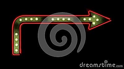 Única seta dando laços com perseguição de luzes filme